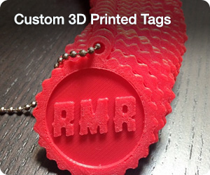 Custom 3D Printed Tags